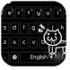 Black Kitty Keyboard by cool wallpaper