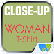 Close-Up Woman T-Shirt by Magzter Inc.