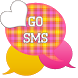 GO SMS - Pink Yellow Plaid 2 by SCSCreations
