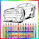 Desenhos para colorir carros by Walps Designer