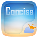 Concise Weather Widget Theme by GO Dev Team X
