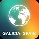 Galicia, Spain Offline Map by EasyNavi