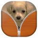Cute Puppy Zipper Lock Screen by Best Live Lock Screen