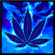 Blue Weed Rasta Keyboard by Colorful App Design