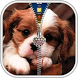 Puppy Zipper Lock Screen by AndroBeings