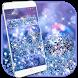 Glitter Blue Dream Theme - glitter wallpaper by Beauty Die Marker