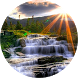 Waterfall Rays Live Wallpaper by AndApplique