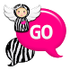 GO SMS - Pink Zebra Angel by SCSCreations