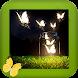 Luminous Butterflies GIF Live Wallpaper