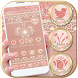 Metallic Rose Gold Launcher Heart Theme by ChickenAnt Themes