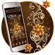 Golden luxury Flower Theme by Launcher Fantasy