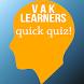 VAK Learning Style Quiz by Asyraf Arifin
