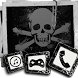 Black and white skull theme