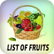 List of fruits by red apps 15