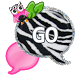 GO SMS - Zebra Pink Owl by SCSCreations