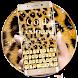Gold Leopard Print Keyboard Theme