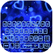 Blue hearts fairyland keyboard by live wallpaper collection