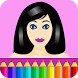 Coloring pages: Model dress up by Coloring Games