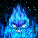 Blue Magic Flame Fantasy Theme by Fabulous Theme Wallpapers