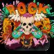 Graffiti Flame Skull Keyboard Theme by Enjoy the free theme