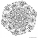 mandala coloring by dnsx