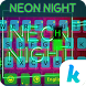 Neon Night Kika Keyboard Theme by Kika Theme Lab