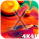 Exclusive Fluid Live Wallpaper for iPhone X by 4K4U