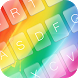 Cute Rainbow Keyboard Theme by KeyboardThemez