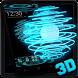 3D Neon Tech Energy Theme