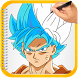 How to Draw Super Saiyan God by Rwislam