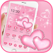Pink heart diamond love Theme by Beauty Die Marker
