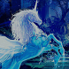 Crystals Unicorn Blue Dream by New themes