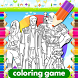 Coloring Guardian Of Galaxy Game by Coloring Gaming