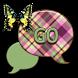 GO SMS THEME/PlaidButterfly2U by RDLCustoms