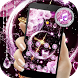 Pink Black Moon Diamond Sailor Theme by Fabulous Theme Wallpapers