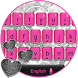 Pink & Black Keyboard with Silver Glitter Hearts by ChickenAnt Themes