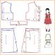 Step make a dress pattern by nyelonongdroid
