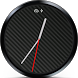 Simple Carbon Fiber Watch Face by gtrnismotech