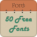 50 Fonts for Samsung Galaxy 6 by Free Font Style for Android