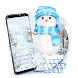 Snowflakes❄️Exquisite Snow Blue Ice Keyboard Theme by COOL THEME
