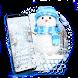 Snowflakes❄️Exquisite Snow Blue Ice Keyboard Theme
