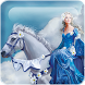 Girl And White Horse Live WP by Lucky Wallpapers
