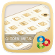 Golden Metal Go Launcher Theme by Freedom Design