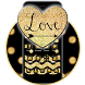 Gold Glitter Love 2D theme