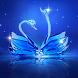 Love Diamond Swan by Launcher phone theme
