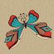 Butterfly Live 3D Sticker 2017 by Tejprakash