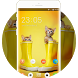 Kitty Theme: Yellow Cute Cats Lovely Screensaver by Mobo Theme Apps Team