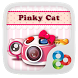 Pinky Cat GO Launcher Theme by Freedom Design