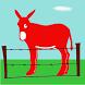 The red donkey by B. Pérez