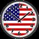 USA Clock by Alfasoft